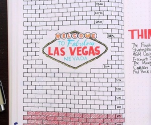 bullet journal, drawing, and Las Vegas image