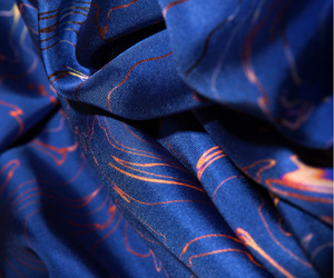 blue, fabric, and silk image