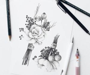arte, belleza, and flores image