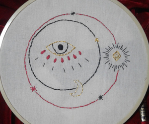 black, embroidery, and handmade image