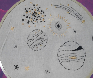 planets, embroidery, and handmade image