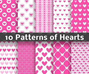 background, pattern, and Valentine Day image