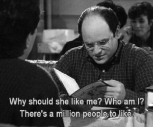 seinfeld, george costanza, and black and white image