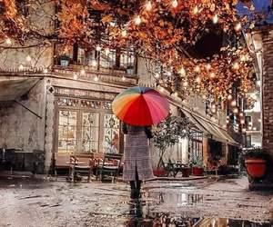 alone, umbrella, and colors image