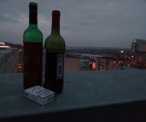 cigarette, alcohol, and wine image