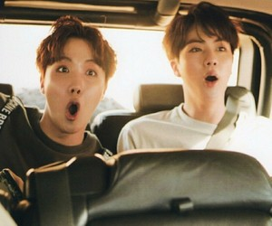 bts, jin, and jhope image