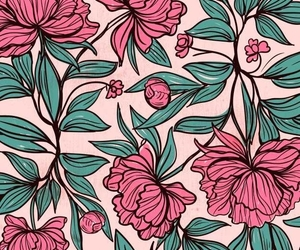 flowers, patterns, and pink image
