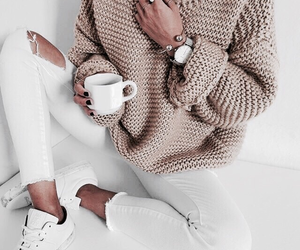 knit, sweater, and photography image