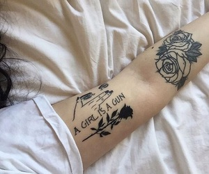 tattoo, rose, and woman image