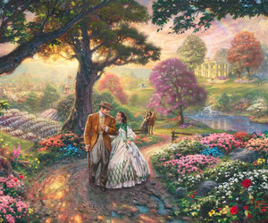 art, Gone with the Wind, and painting image