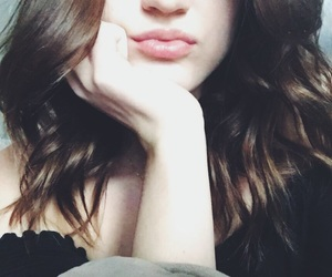 brunette, fashion, and lips image