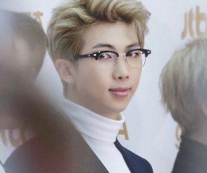 glasses, rm kim namjoon, and red carpet image