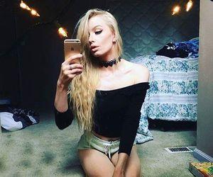 blonde, dark, and choker image