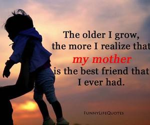 growing up, sunset, and mothers love image