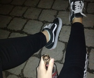 beer, legs, and night image