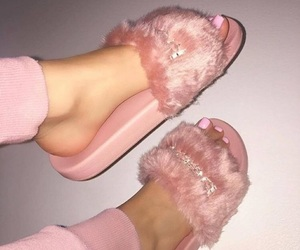 girls, pink, and shoes image
