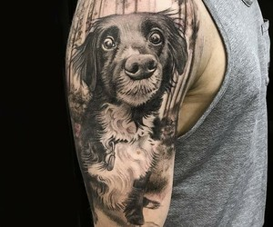 dogs, realism, and tattoo image