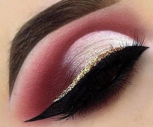 beautiful, burgundy, and eyebrows image