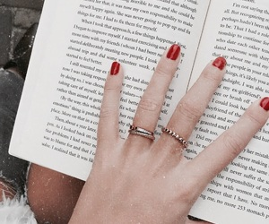 book, nails, and rings image