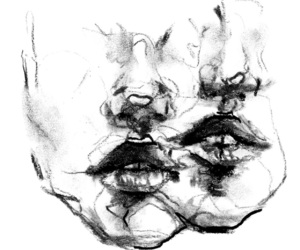 black, drawing, and white image