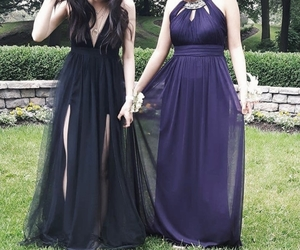 dress, best friends, and corsage image