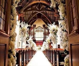 church and wedding image