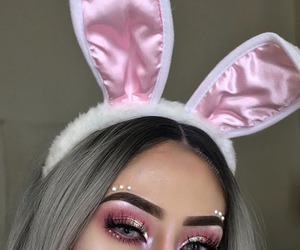beauty, pretty, and eye makeup image