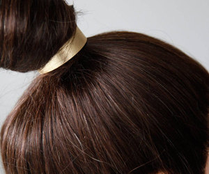 hair accessories, gold cuff, and hair cuff image