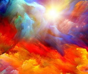 art, colorful, and clouds image