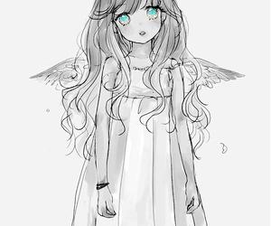 anime, angel, and anime girl image