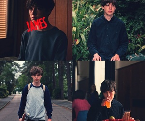 james, the end of the world, and tv series image