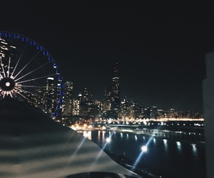 chicago, navy pier, and night image