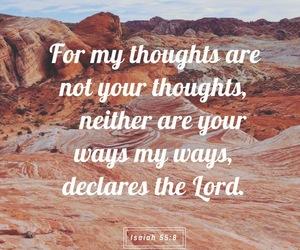 god, bible verse, and isaiah 55:8 image