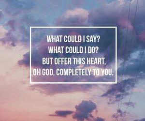 god, hillsong united, and Lyrics image