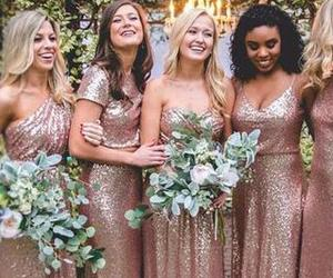 sequin, mismatched, and rosegold image