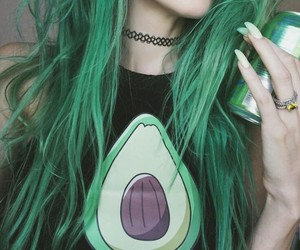 green, hair, and tumblr image