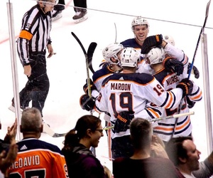 hockey, oilers, and Ice Hockey image