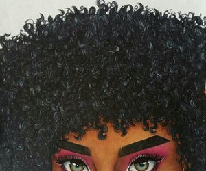 beautiful eyes, big hair, and draw image