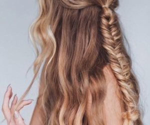 fishtail and half hair image