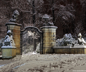 gate, Poland, and snow image