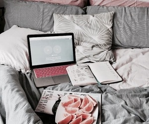 bed, school, and study image
