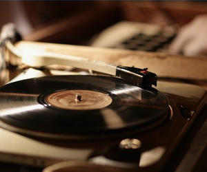 music, record player, and vintage image