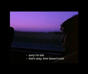 time, quotes, and grunge image