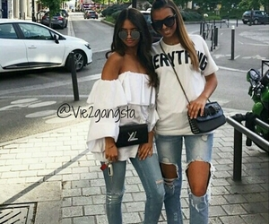jeans, outfit, and style fashion image