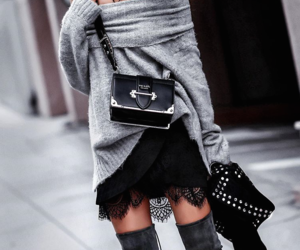 fashion, lady, and over- the-knee boots image