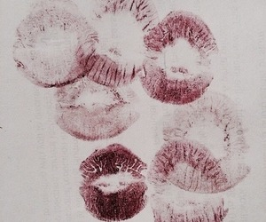 lipstick, kiss, and lips image