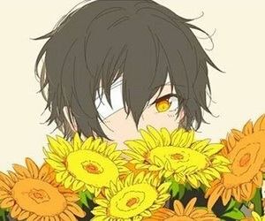bungou stray dogs, anime, and flowers image