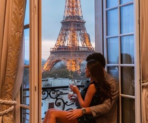couple, paris, and goals image