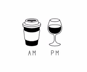 wine, coffee, and drink image