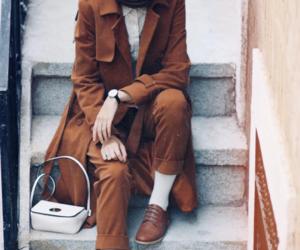 brown and hijab fashion image